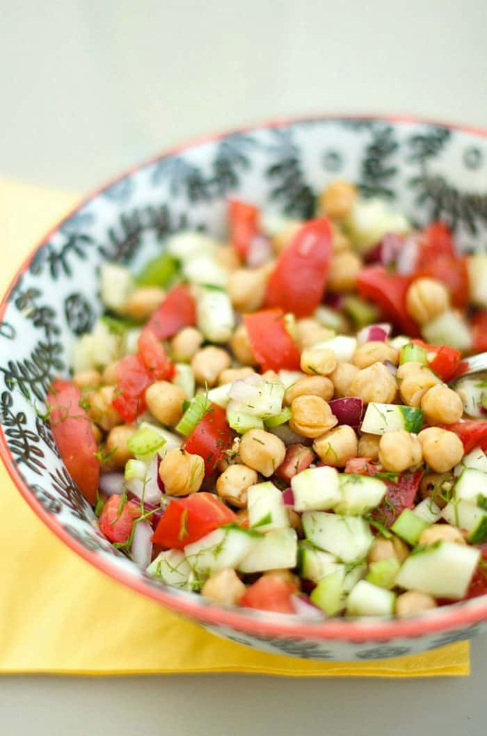Best Cucumber and Chickpea Salad