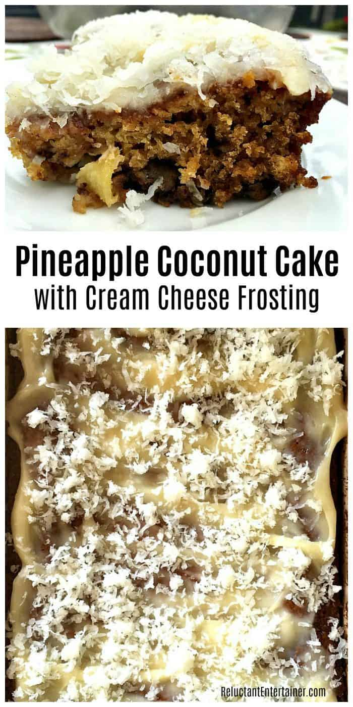 No oil or butter Pineapple Coconut Cake with Cream Cheese Frosting