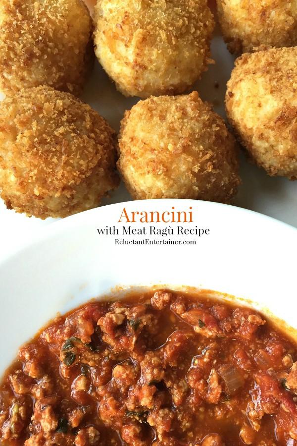 Arancini with Meat Ragù Recipe | ReluctantEntertainer.com