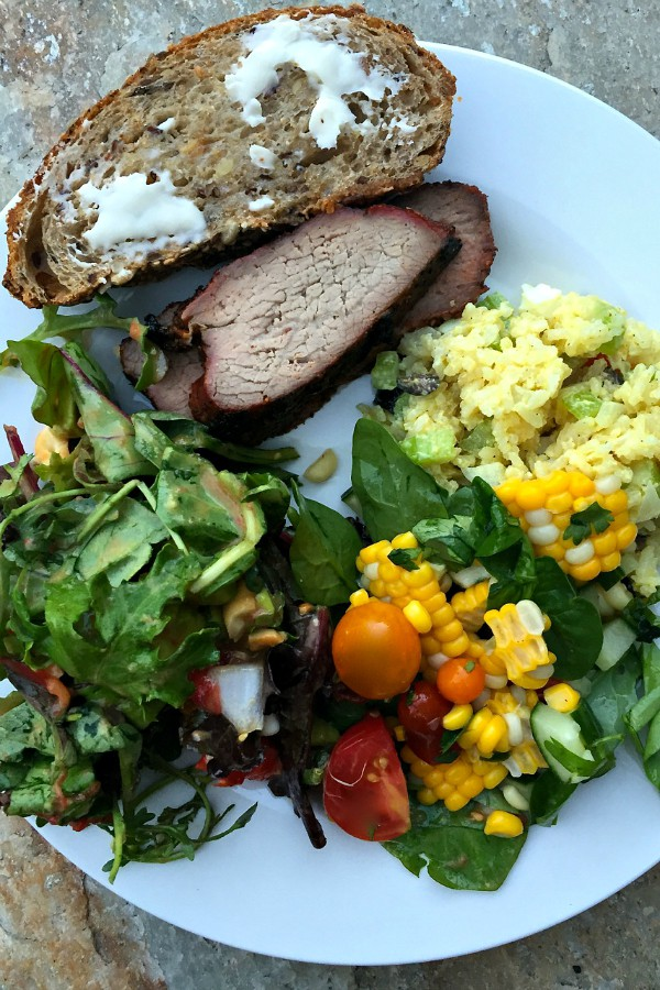 Corn Spinach Salad | ReluctantEntertainer.com