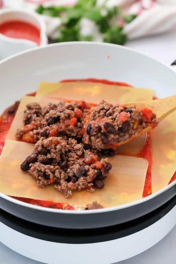 how to make Skillet Mexican Lasagna Recipe
