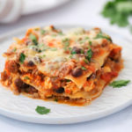 a serving of Skillet Mexican Lasagna Recipe