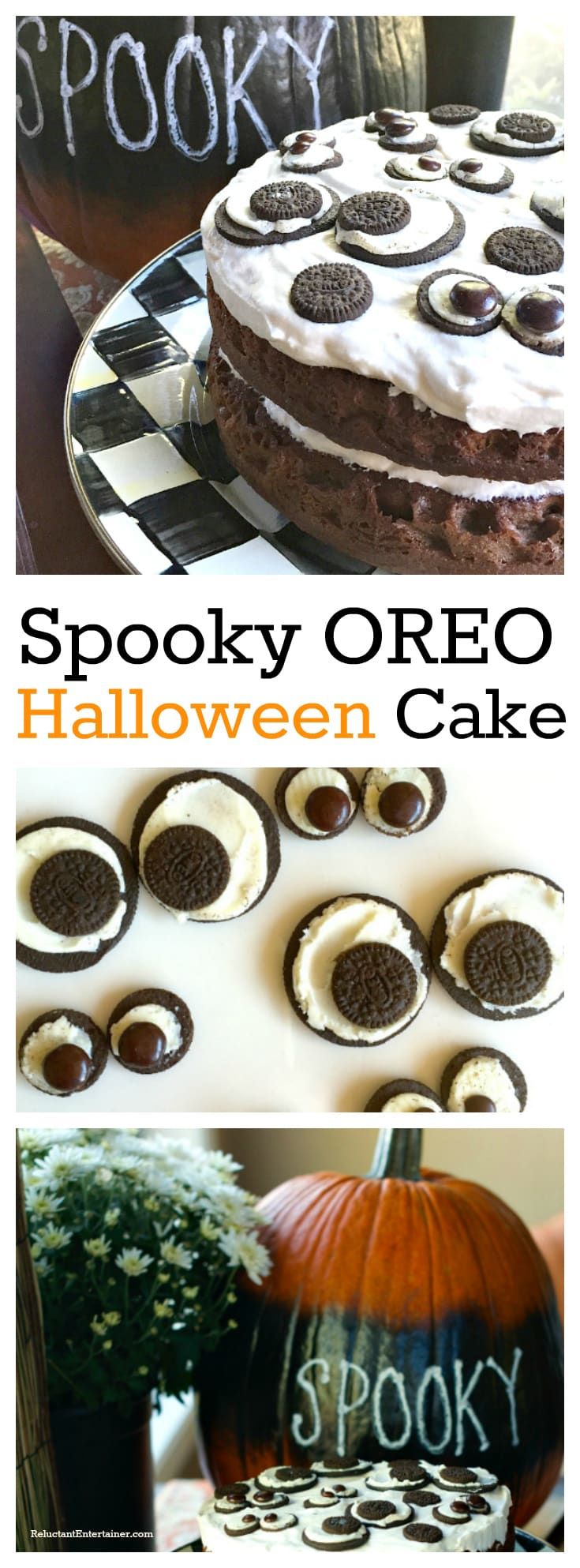 Spooky Oreo Halloween Cake at ReluctantEntertainer.com