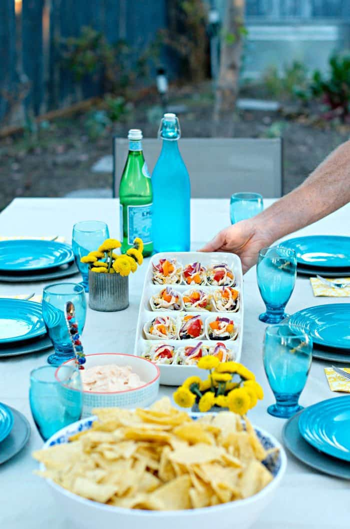 Mini Chicken Taco Boats and Jalapeño Greek Yogurt Dip