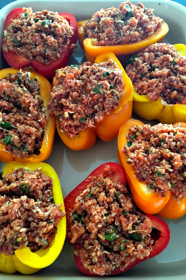 Quinoa-Stuffed Peppers | ReluctantEntertainer.com