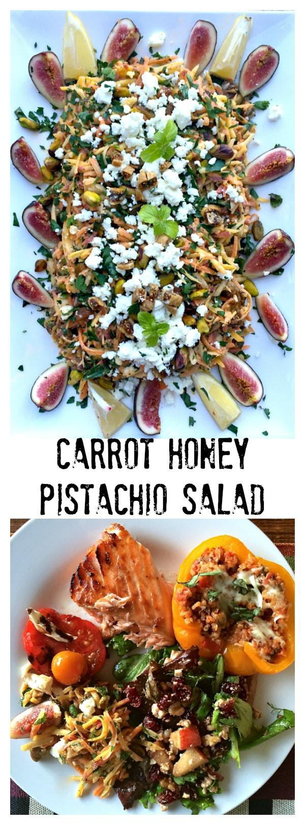 Carrot Honey Pistachio Salad