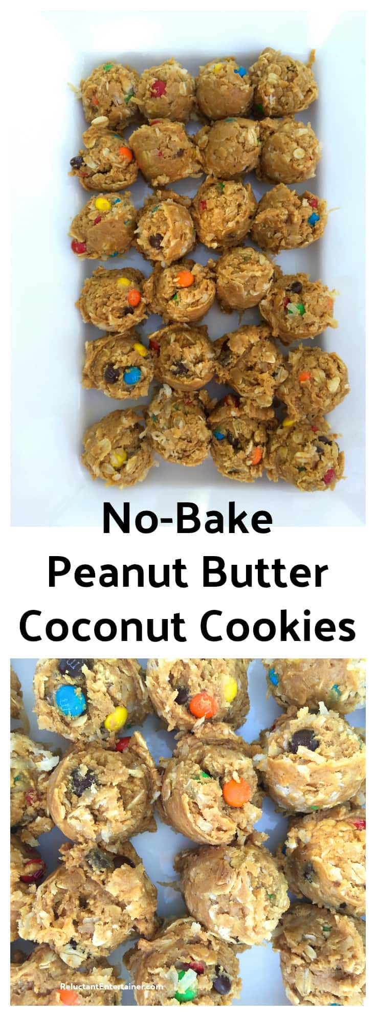 No-Bake Peanut Butter Coconut Cookies