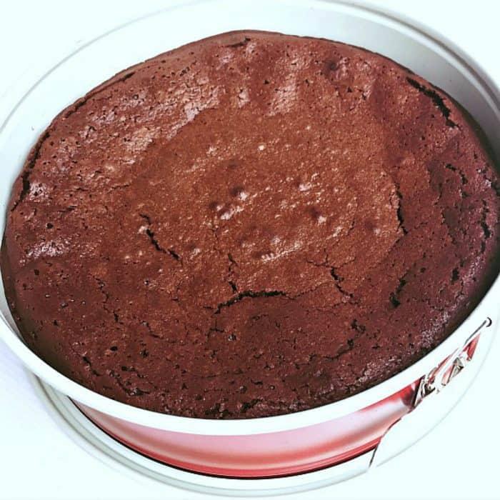 Pumpkin Spice Flourless Chocolate Cake - springform pan