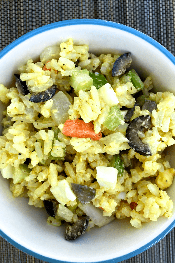 Golden Rice Salad | ReluctantEntertainer.com