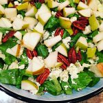 Pear Blue Cheese Salad | Reluctant Entertainer.com