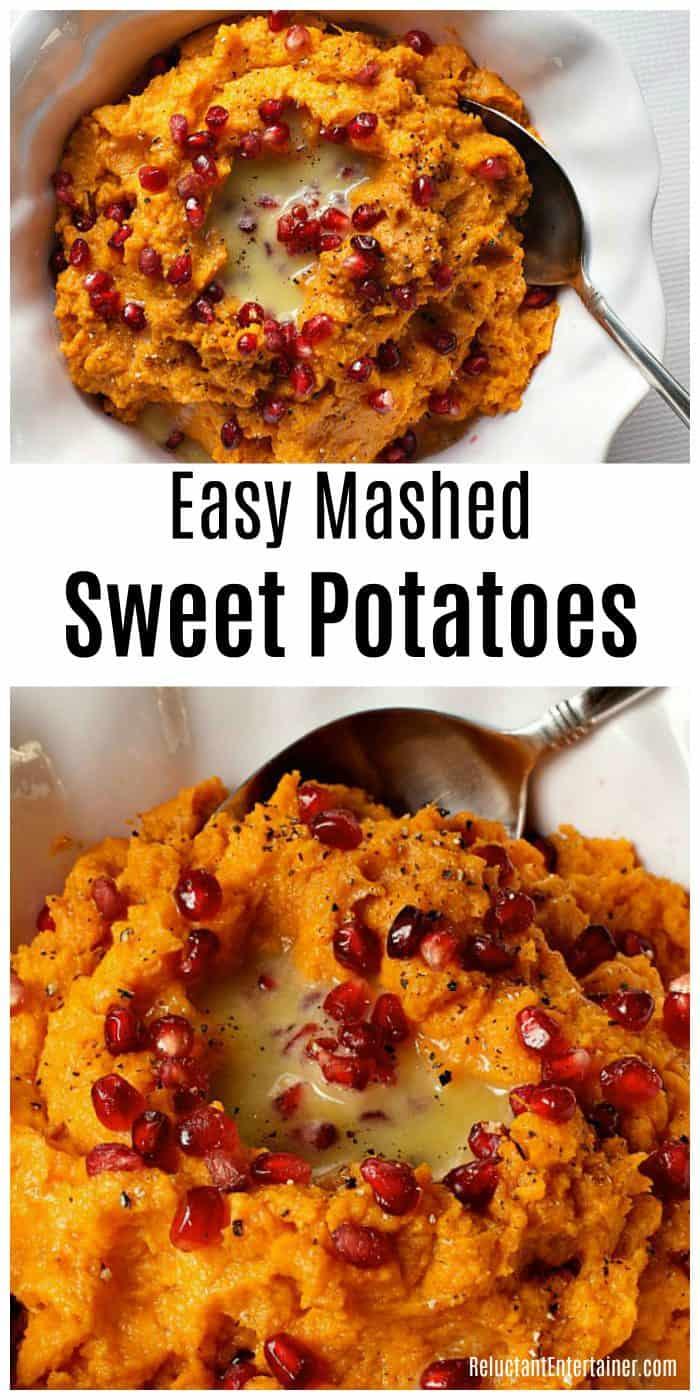 Easy Mashed Sweet Potatoes