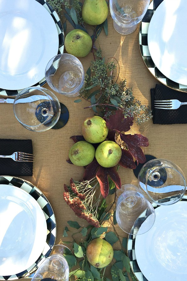Setting the table with Pears