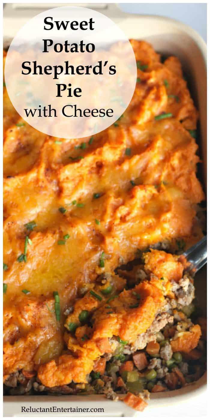 Sweet Potato Shepherd's Pie with Cheese