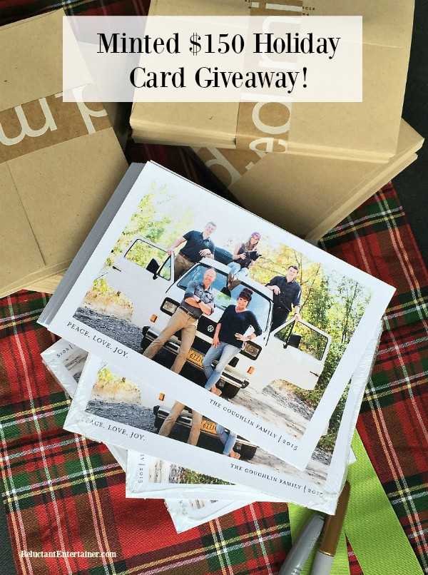 Minted Holiday Card $150 Giveaway! at Reluctant Entertainer