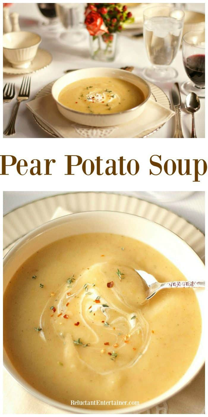 Easy Pear Potato Soup