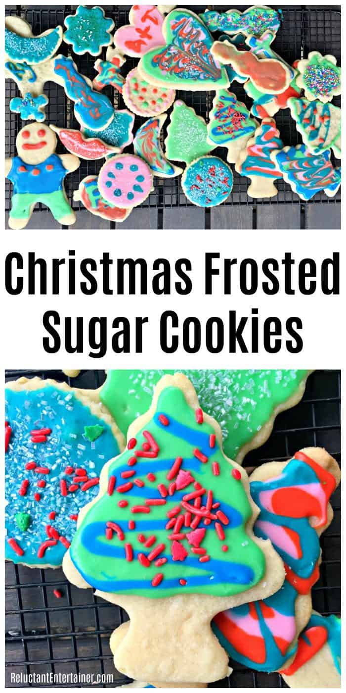 Christmas Frosted Sugar Cookies Recipe