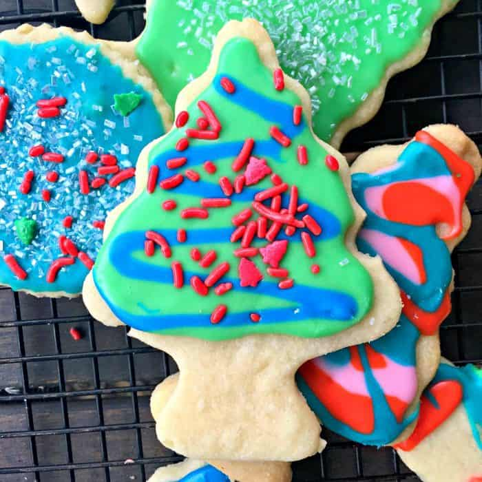BEST Christmas Frosted Sugar Cookies