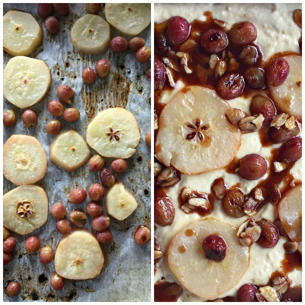 Roasted Pear Grape Kuchen