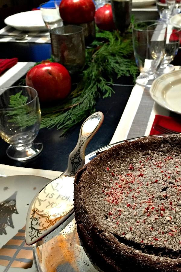 Chocolate Peppermint Flourless Cake