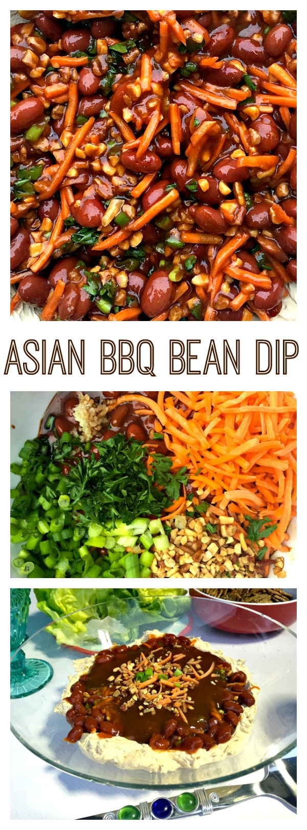 "Asian BBQ Bean Dip, a spin on the party ""taco dip"""