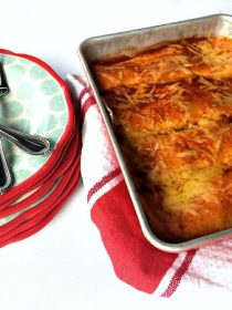 Cheesy Meat Enchiladas with homemade sauce
