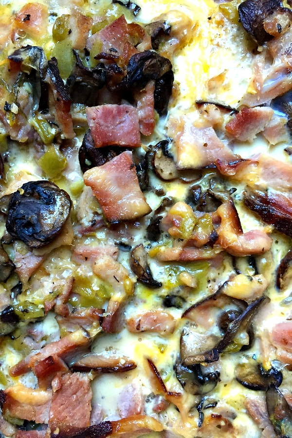 This overnight make-ahead Ham Breakfast Casserole is delicious for out-of-town holiday guests!