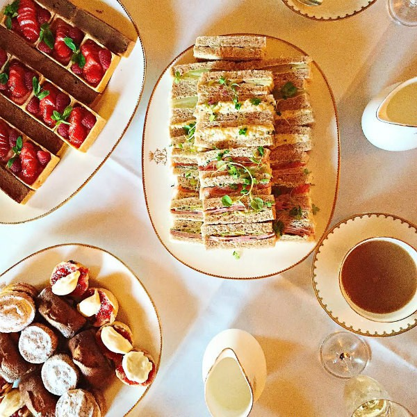 Downton Abbey Egg Salad Tea Sandwiches - tea