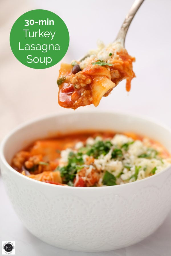 30-minute Turkey Lasagna Soup