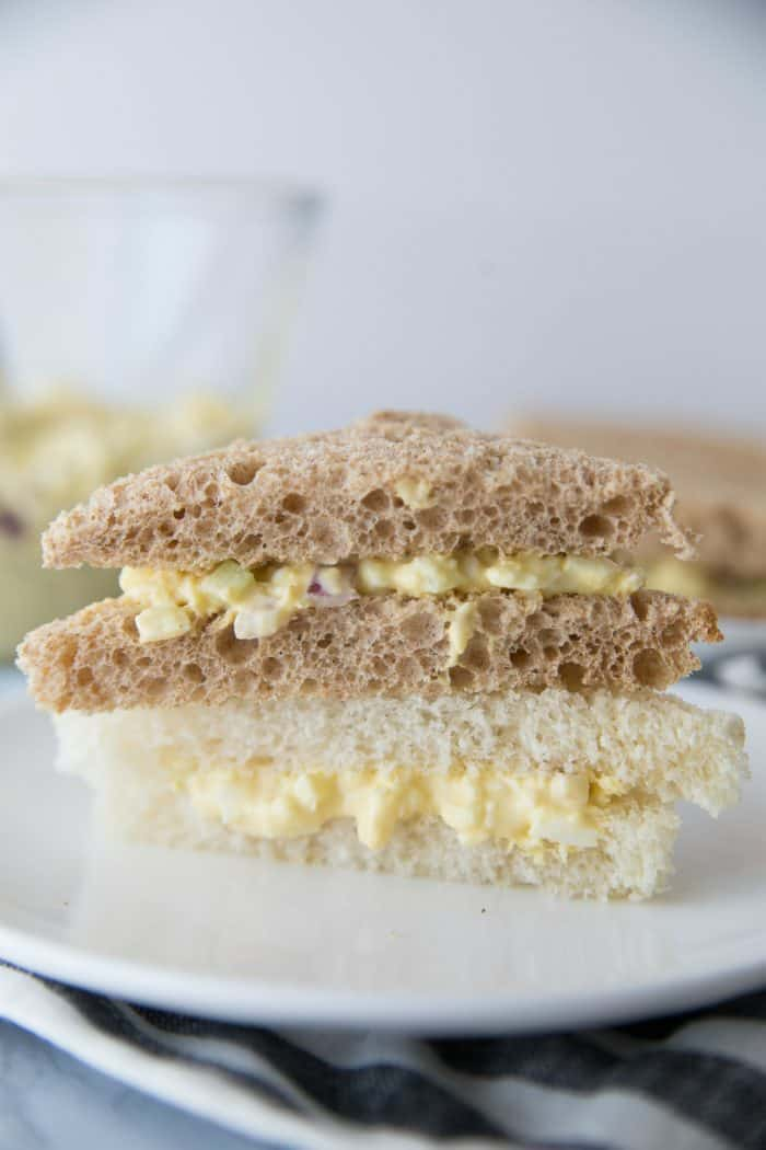 EASY Downton Abbey Egg Salad Tea Sandwiches