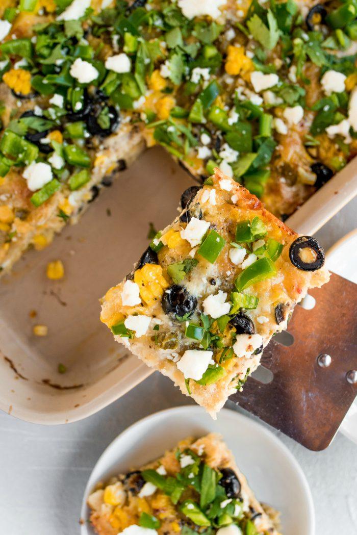 WEEKNIGHT Green Chili Corn Tortilla Strata