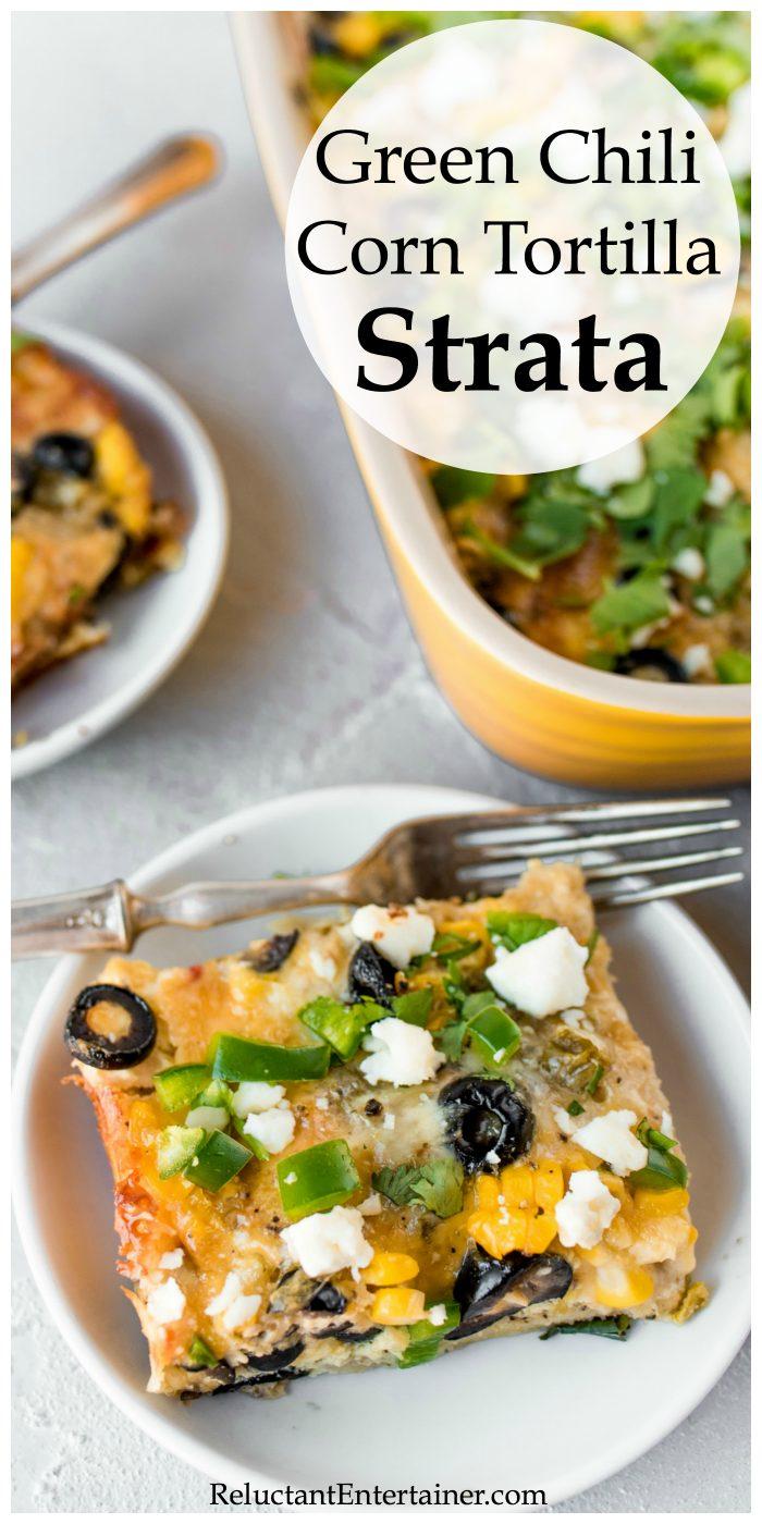 Green Chili Corn Tortilla Strata Recipe