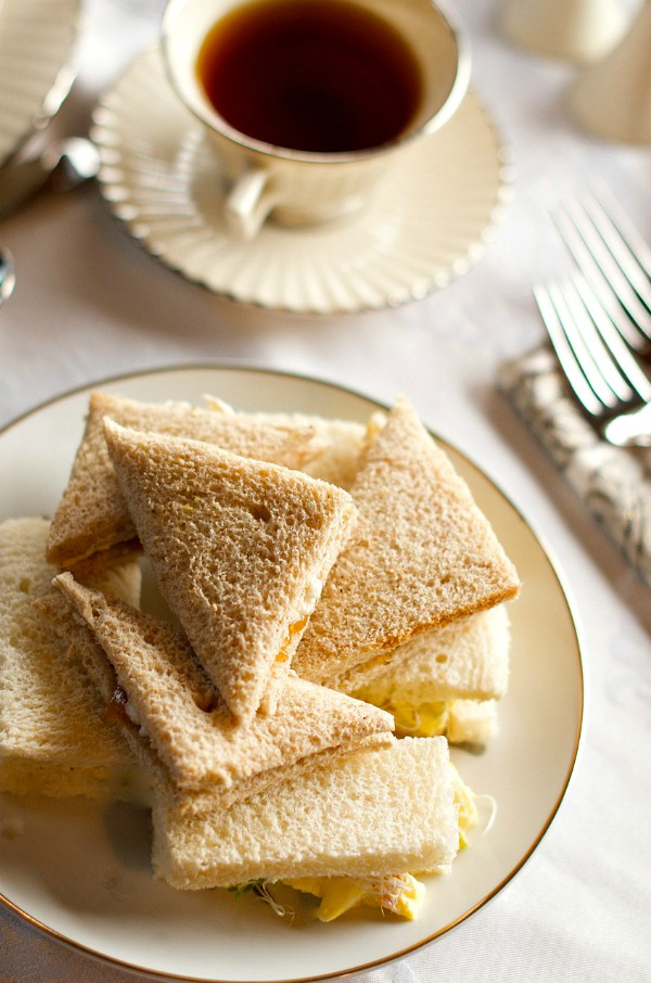 Downton Abbey Lavender Tea Bread - sandwiches