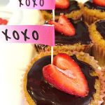 Strawberry Cupcakes with Ganache