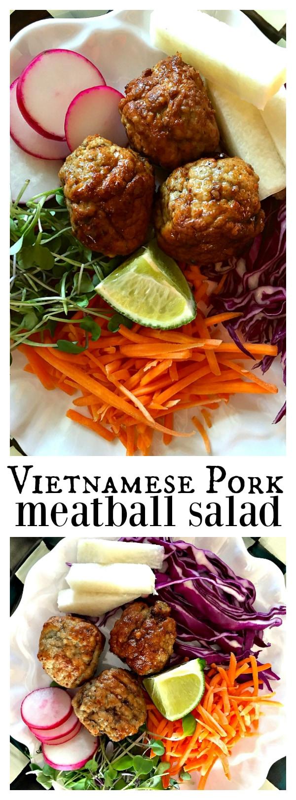 Vietnamese Pork Meatball Salad
