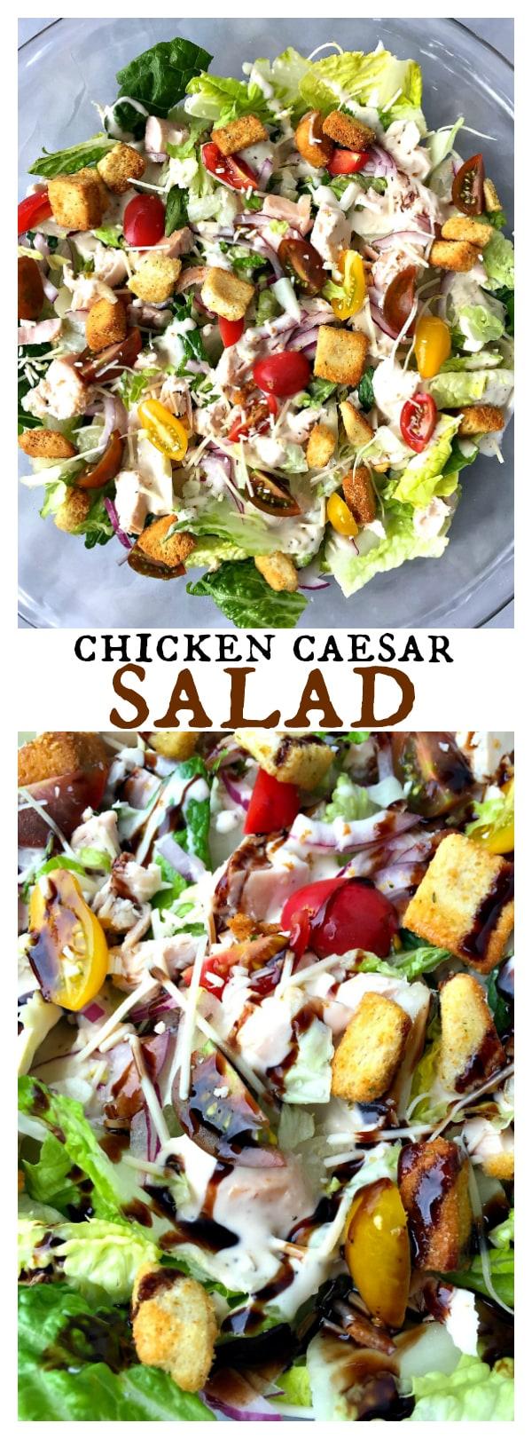 Chicken Caesar Salad with homemade dressing
