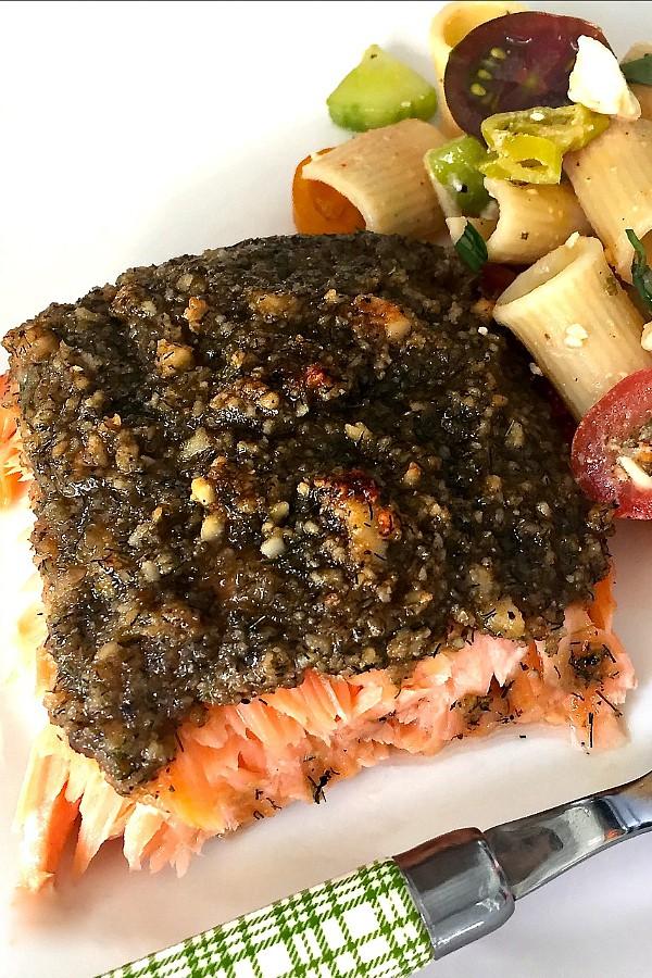 Macadamia Lime Baked Salmon