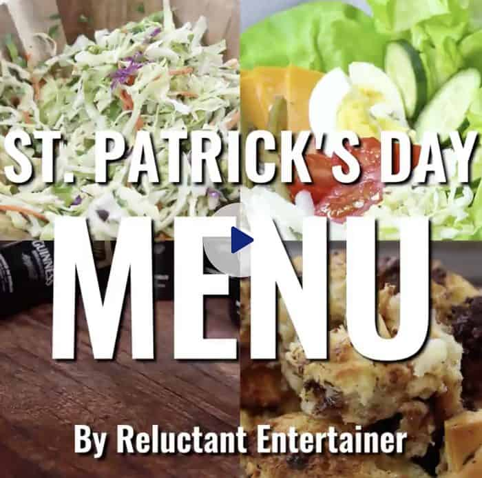 St. Patrick's Day Menu
