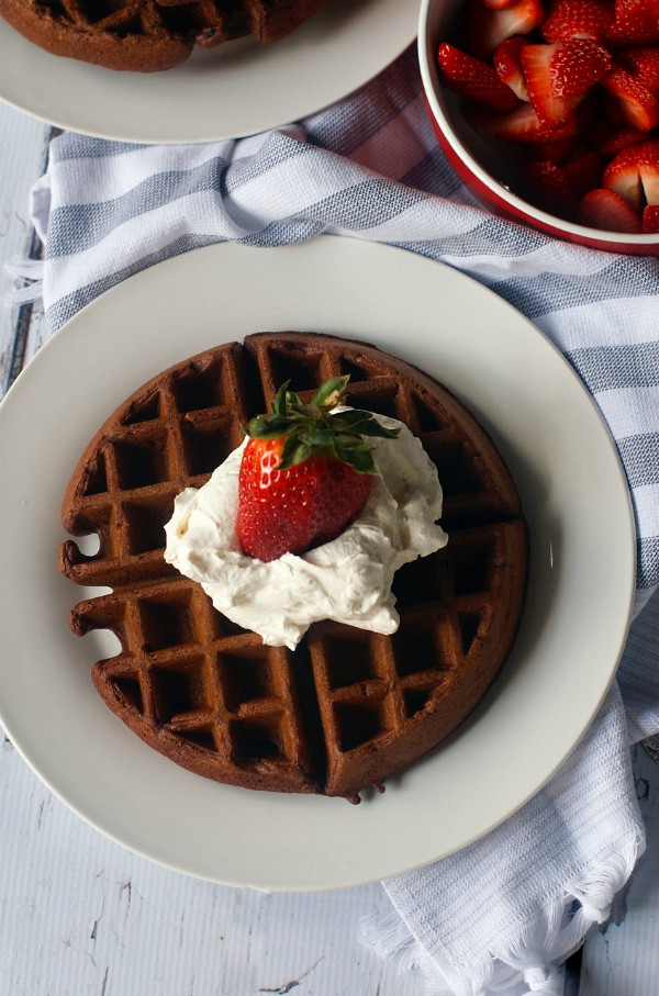 Chocolate Buttermilk Waffles