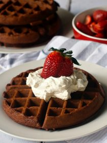 Chocolate Buttermilk Waffles