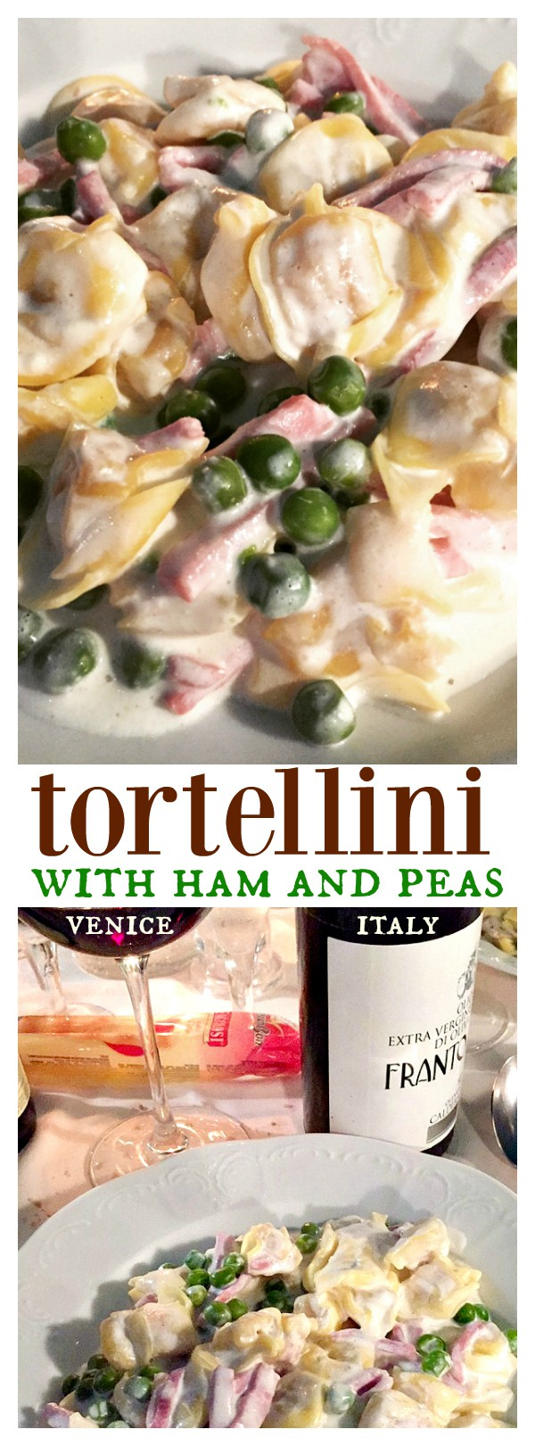 Tortellini with Ham and Peas in Venice, Italy