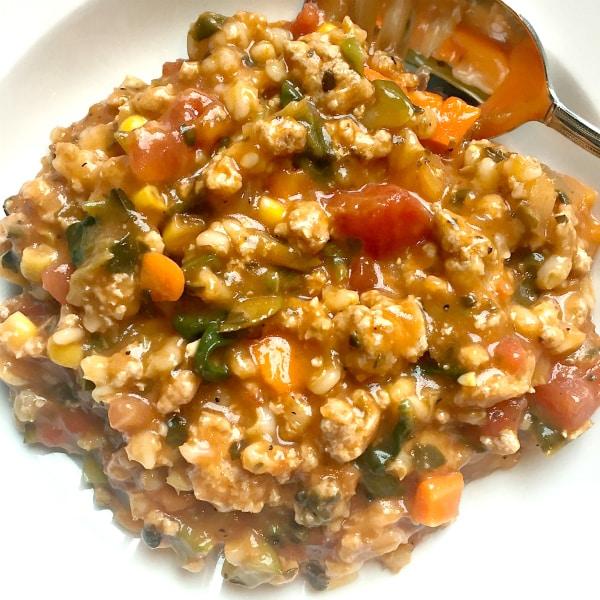 Turkey Vegetable Barley Soup