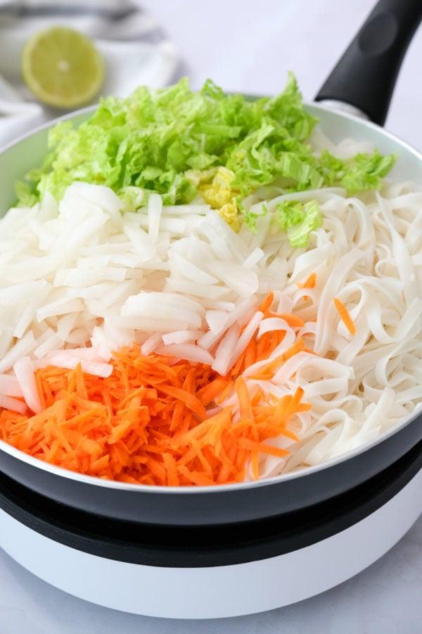 ingredients for Easy Pad Thai Salad