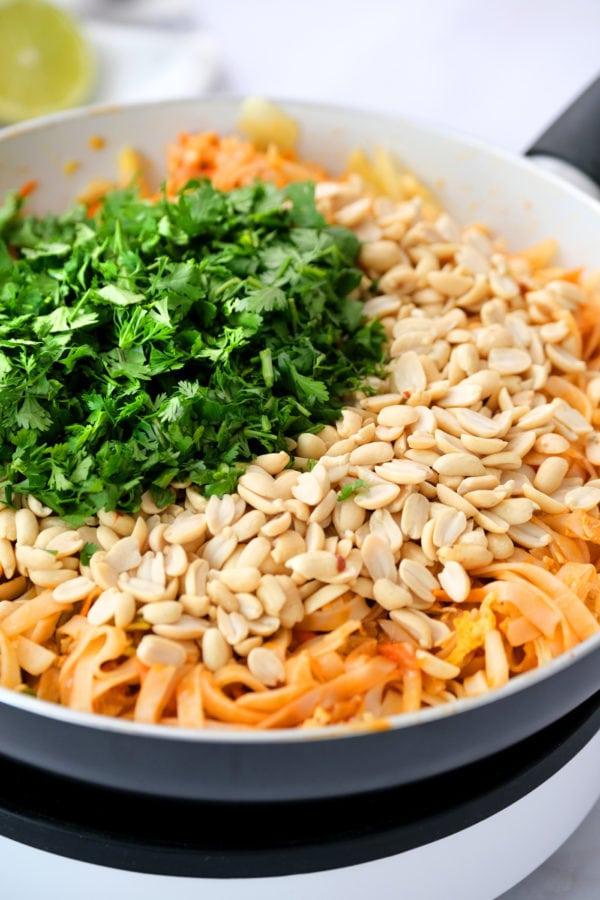 making Easy Pad Thai Salad