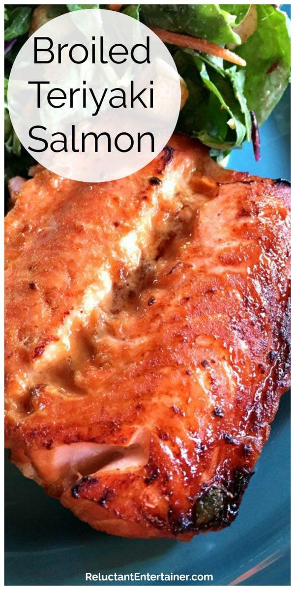 plate of cooked Broiled Teriyaki Salmon