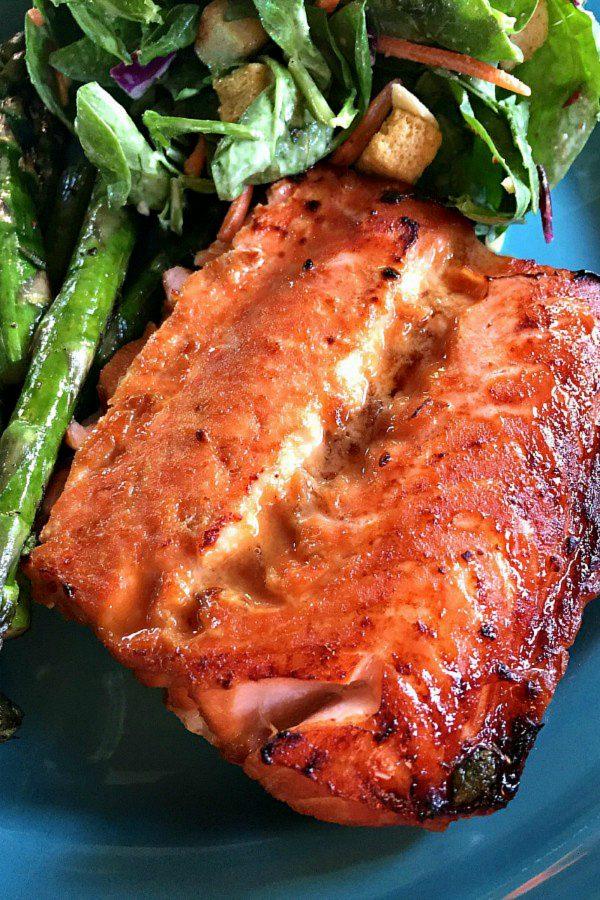 Broiled Teriyaki Salmon with veggies
