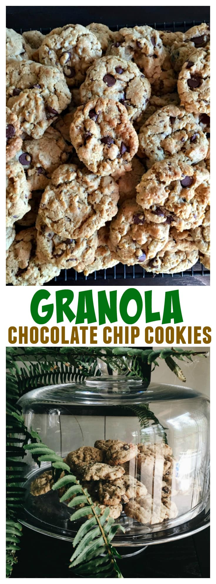 Granola Chocolate Chip Cookies at ReluctantEntertainer.com