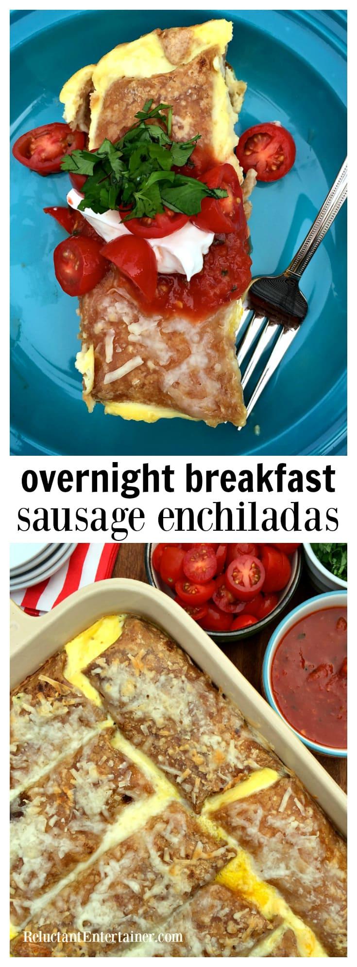 Overnight Breakfast Sausage Enchiladas