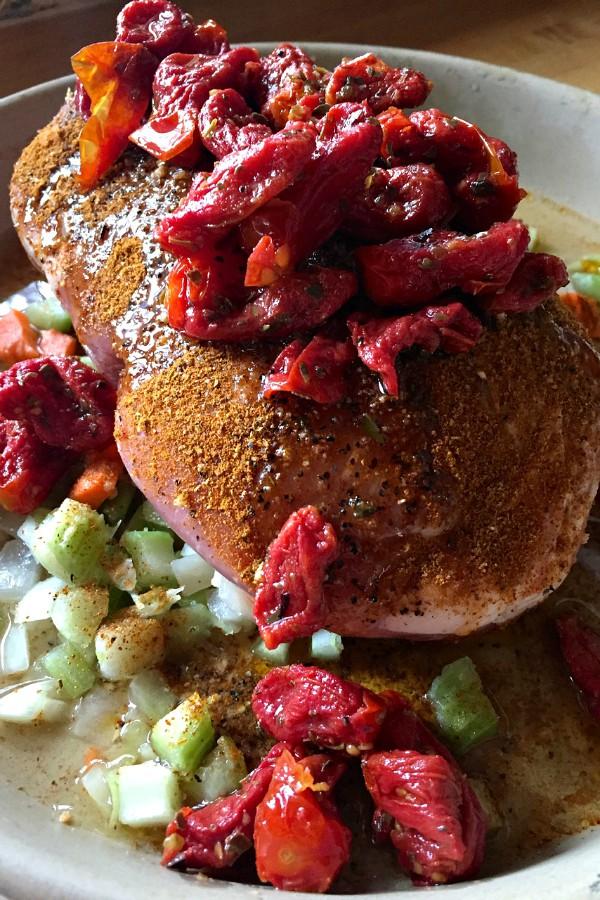 Pork Roast with Cherry Tomatoes