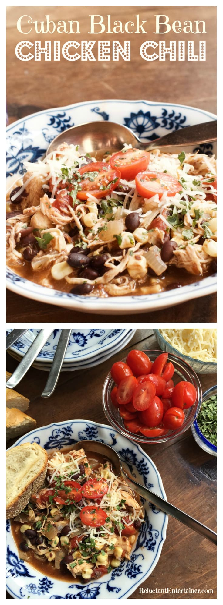 Cuban Black Bean Chicken Chili | ReluctantEntertainer.com
