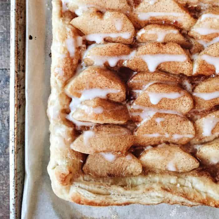 easy best peach tart